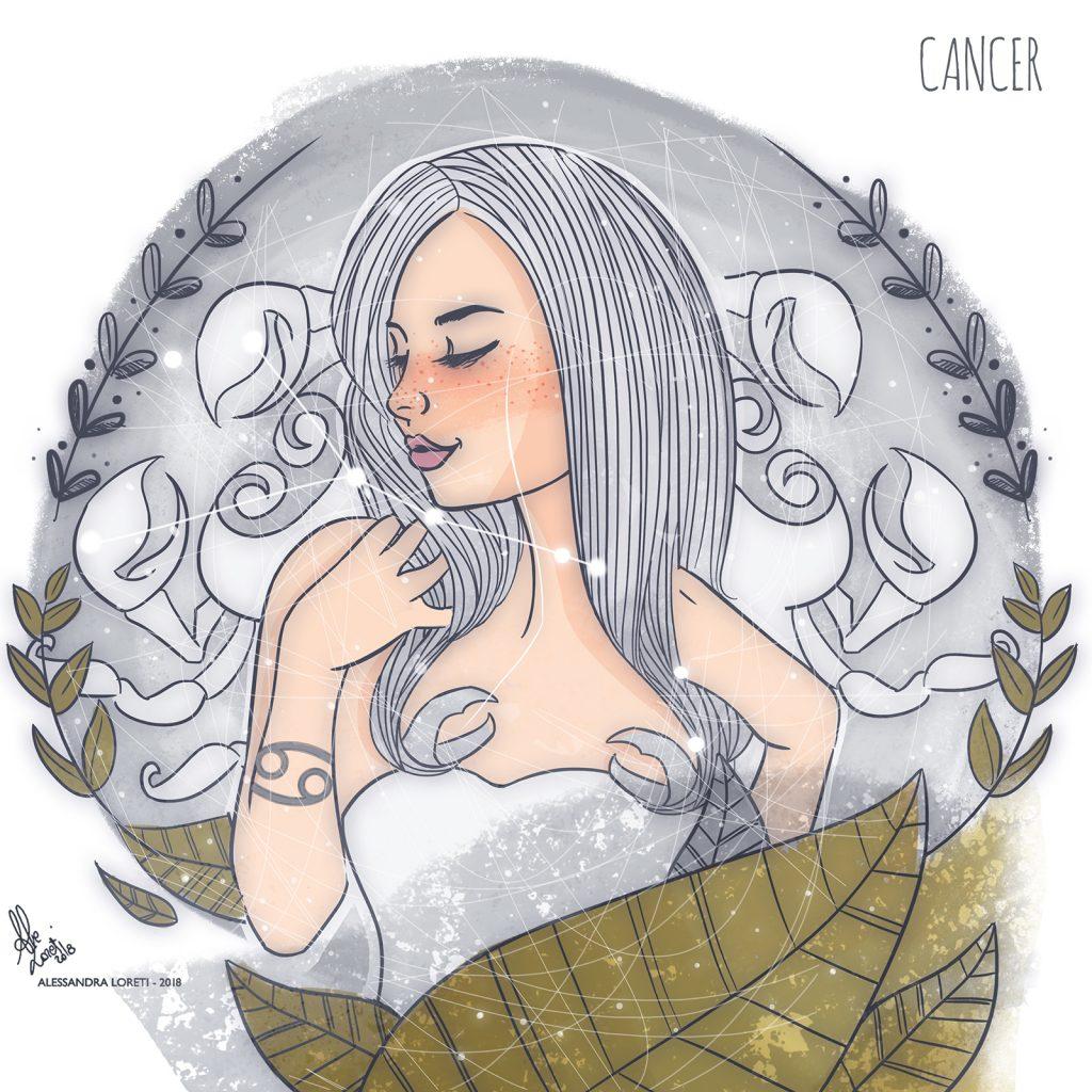 disegno creativo segni zodiacali cancro - Alessandra Loreti