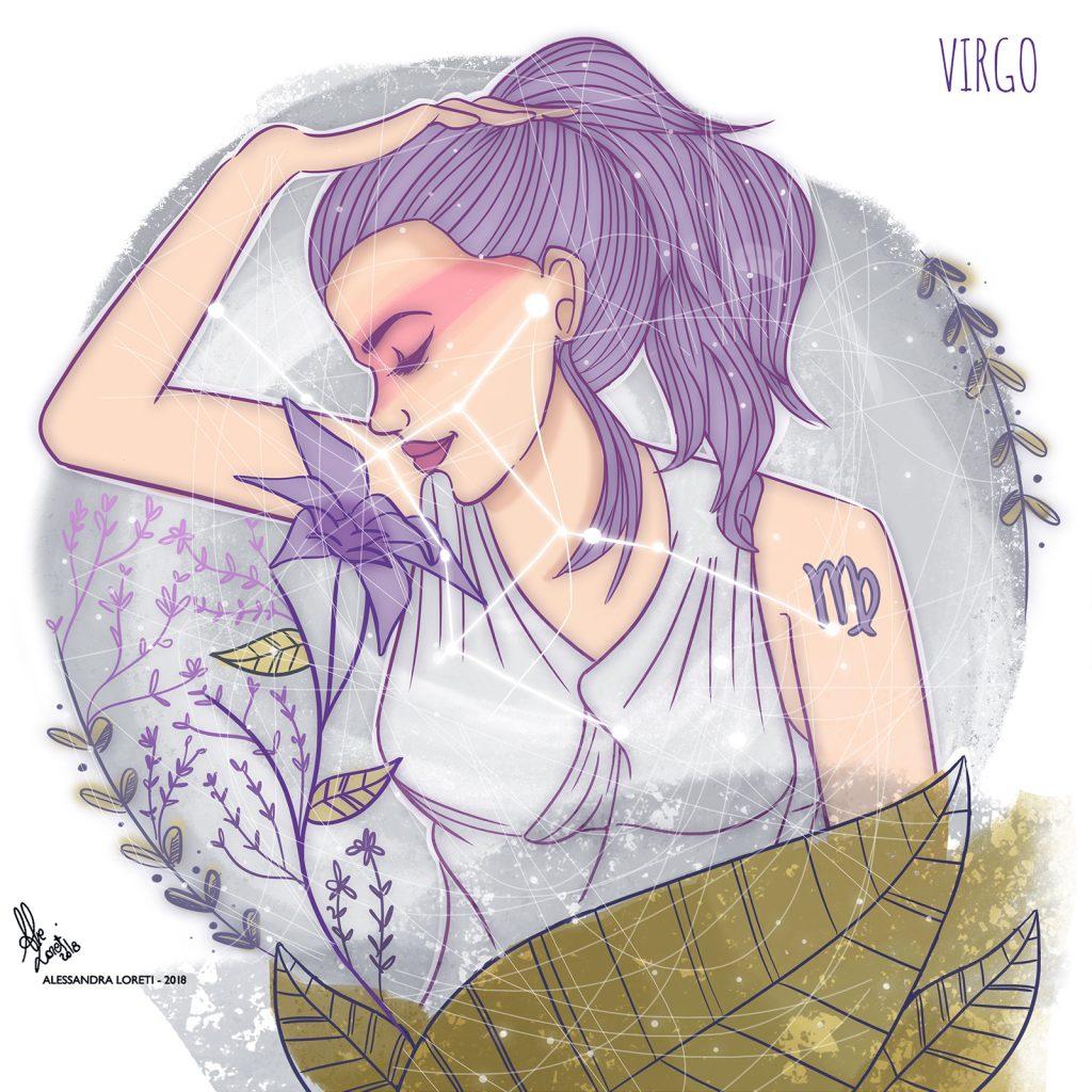disegno creativo segni zodiacali vergine - Alessandra Loreti