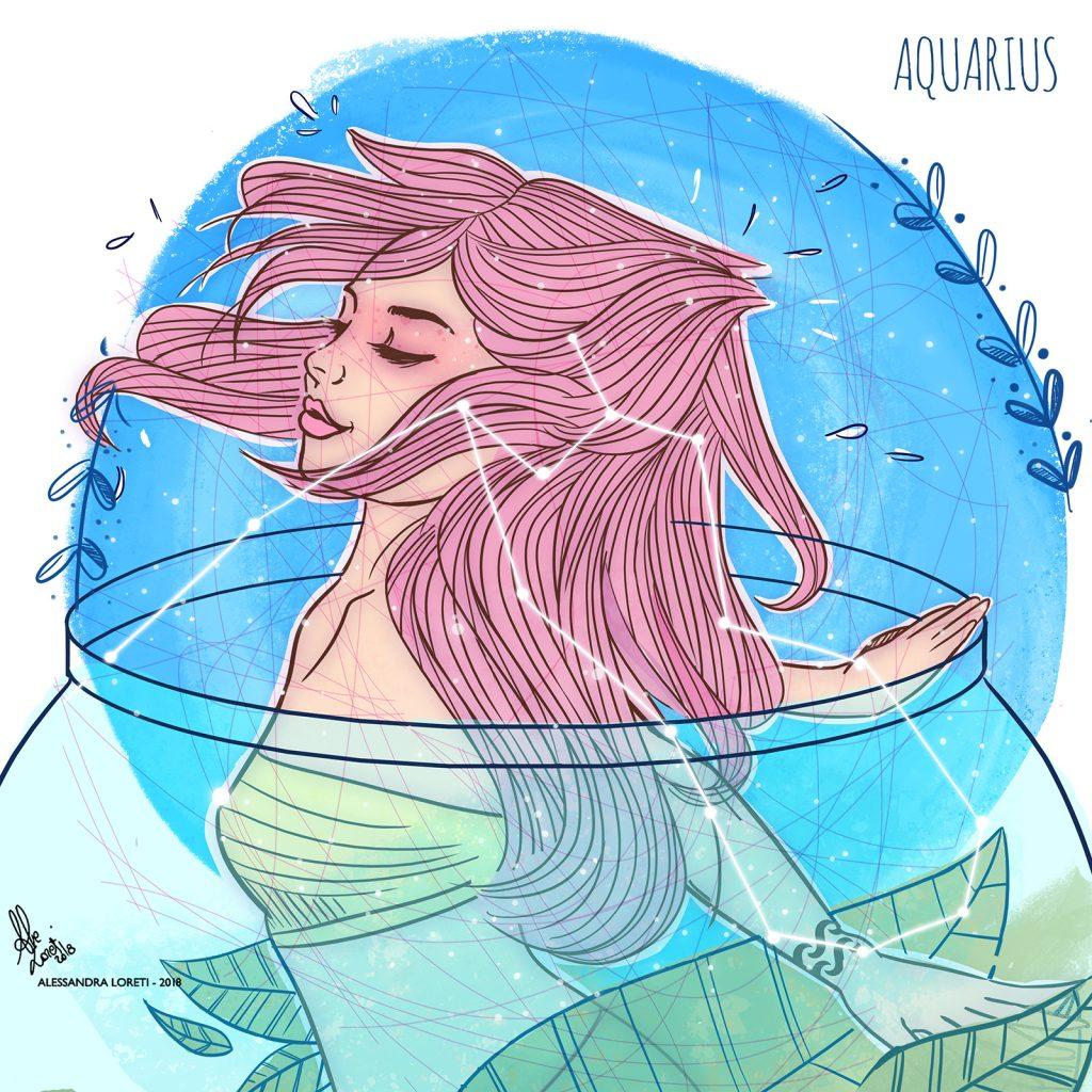 disegno creativo segno zodiacale acquario - Alessandra Loreti