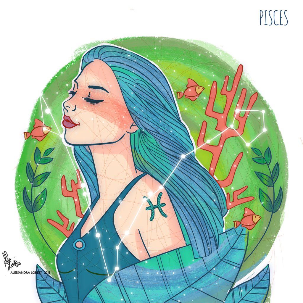 disegno creativo segno zodiacale pesci - Alessandra Loreti