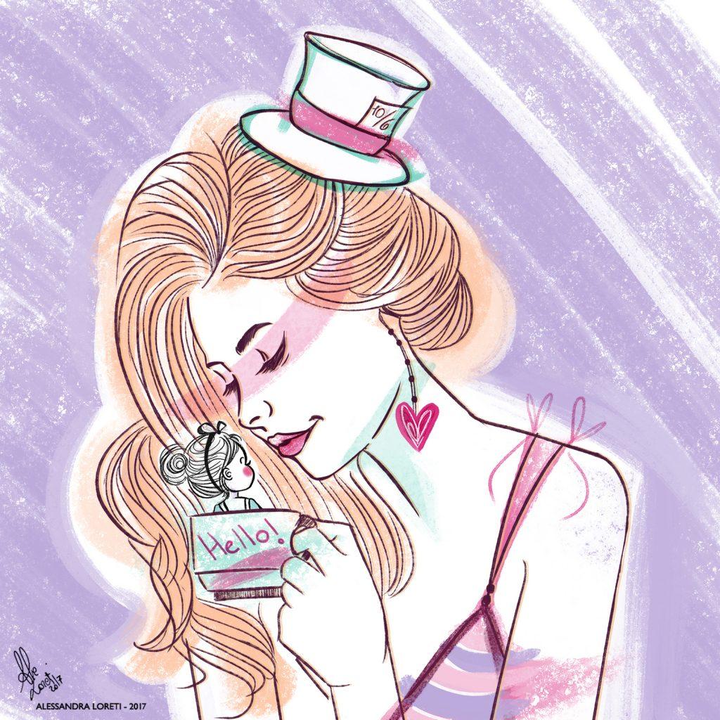 disegno creativo Alice in Wonderland - Alessandra Loreti