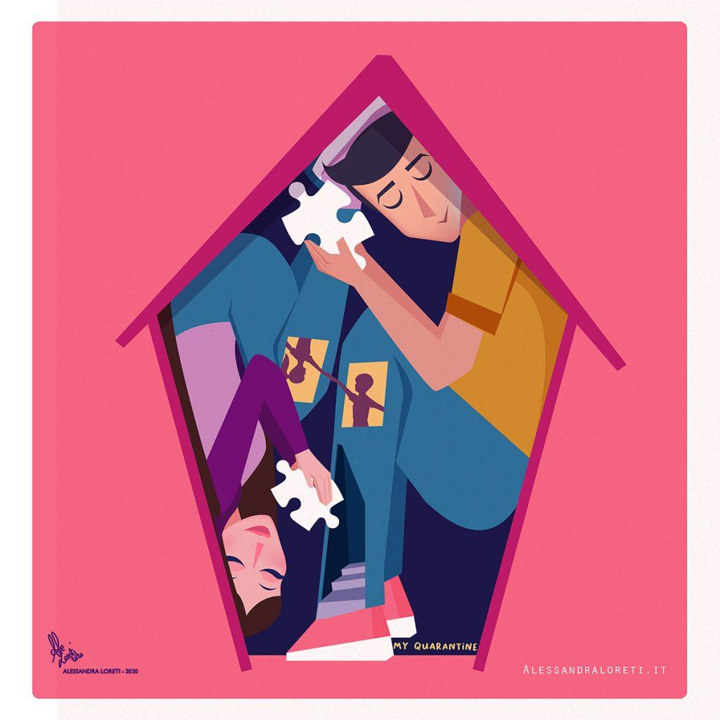 Illustrazioni in quarantena - Alessandra Loreti