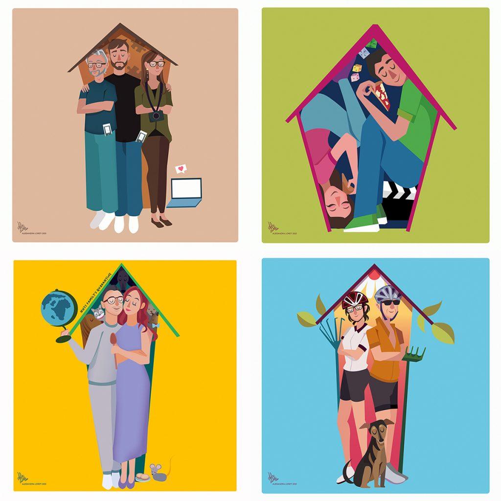 Illustrazioni tema quarantena - Alessandra Loreti